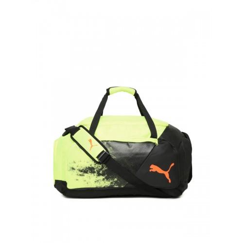 8c41bcb111 ... Duffel Bag  Puma Unisex Green   Black Printed LIGA Medium Duffel ...