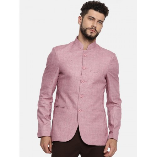 9a040ae6cc ... The Indian Garage Co Red Cotton Checked Slim Fit Single-Breasted Casual  Blazer ...