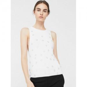 MANGO Off-White Studded Sweater
