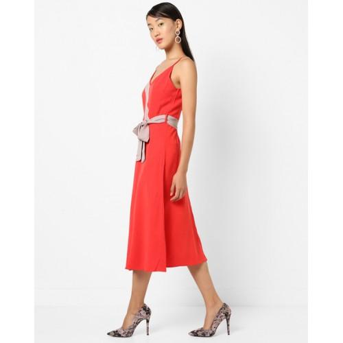 3b0d5dba90bf0 Buy TRENDYOL Strappy A-line Dress with Detachable Fabric Belt online ...