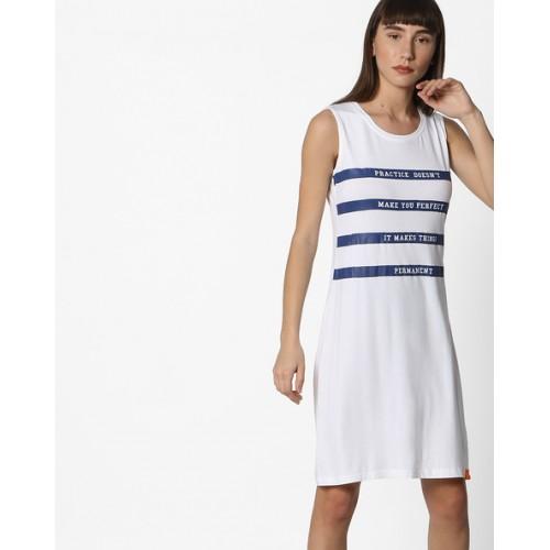 34986063988 ... Teamspirit Sleeveless T-shirt Dress with Typographic Print ...