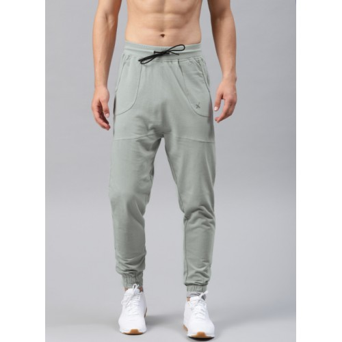 HRX by Hrithik Roshan Grey Solid Joggers