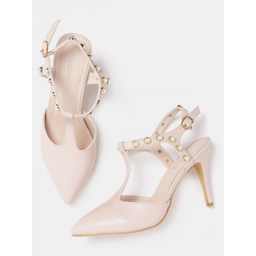 cf5f7accd7e6 DressBerry Pink Solid Heels  DressBerry Pink Solid Heels ...
