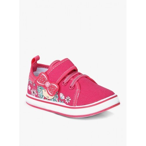Kittens Girls Pink Canvas Slip On Sneakers