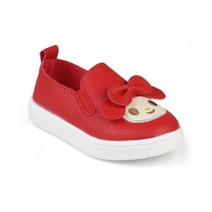 Kittens Shoes Ted Synthetic Leather Bow Applique Cute Shoes