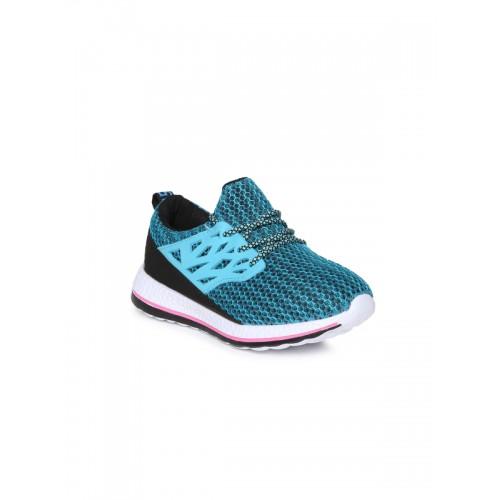 Kittens Girls Blue Mesh Slip On Sneakers