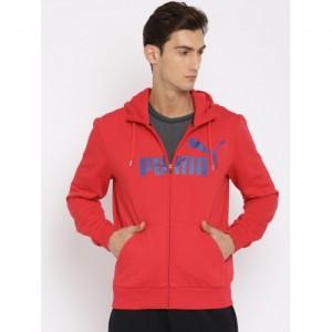 Puma Red Printed Sweatshirt
