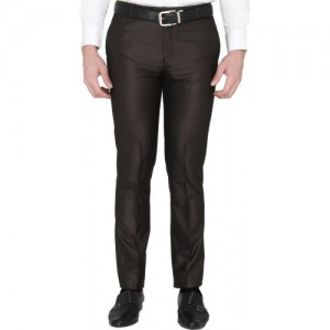 f6a9f5d8c0f Buy Peter England Slim Fit Men s Black Trousers online