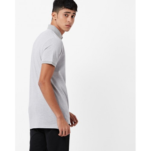 INDIAN TERRAIN Heathered Slim Fit Polo T-shirt