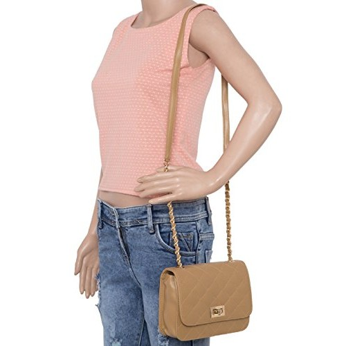 ADISA SL5008 women/girls quilted sling bag