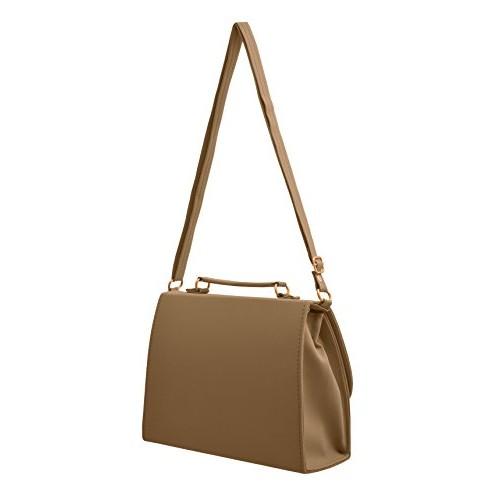 Tap Fashion Tan Fancy Stylish Polyurethane Sling Bag