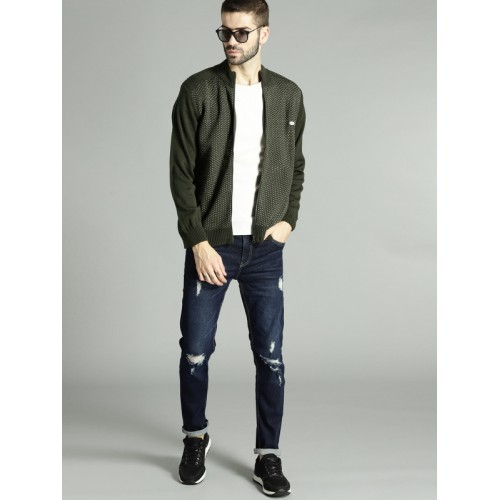 Roadster Men Navy Blue Mid-Rise Stretchable Jeans