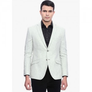 SUITLTD Light Grey Solid Blazer