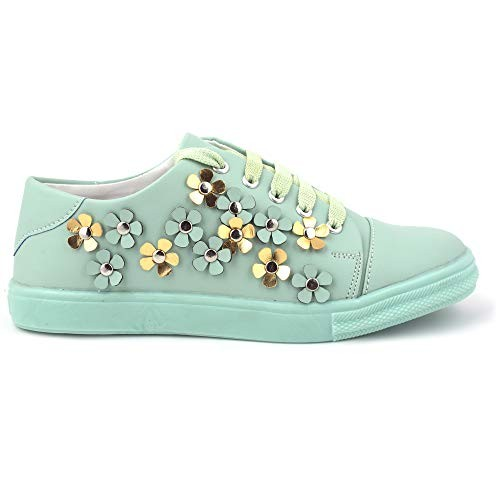 BEONZA Green Synthetic Stylish Sneakers Casual Shoes