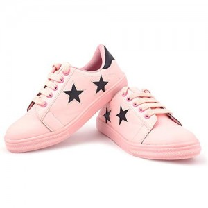 56b6ebddb BEONZA Women Pink Synthetic Stylish Casual Sneakers Shoes