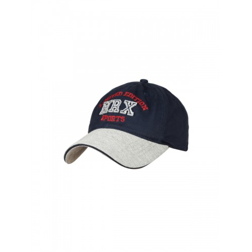 HRX by Hrithik Roshan Navy & Grey Cotton Cap