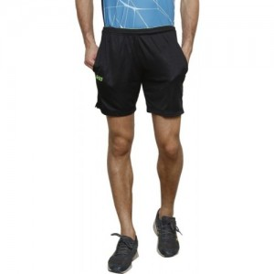 DIDA Solid Men Black Sports Shorts