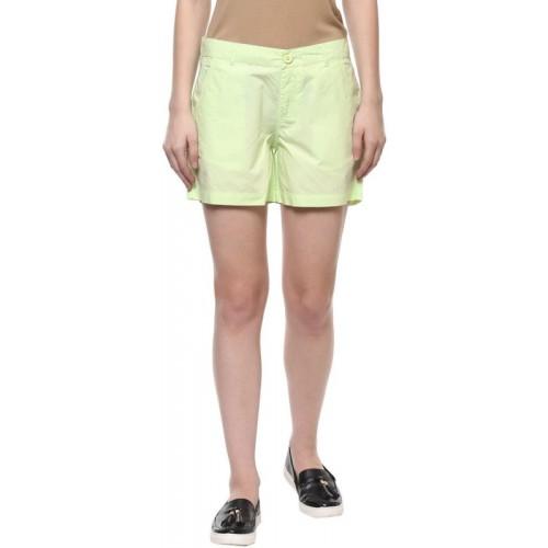 Honey By Pantaloons Solid Women Light Green Chino Shorts