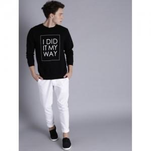 Kook N Keech Men Black Printed Sweatshirt