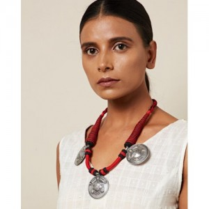 Indie Picks Thread Necklace with Metal Pendants
