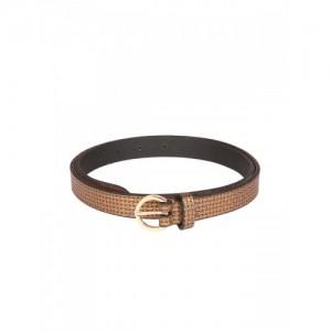 Aditi Wasan Women Tan Solid Leather Belt