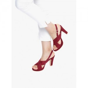 20Dresses Maroon Sandals