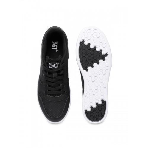 361 Degree Women Black Skateboarding Shoes