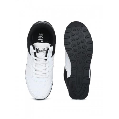 361 Degree Women White Running Shoes