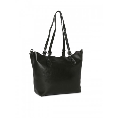 DressBerry Black Solid Shoulder Bag