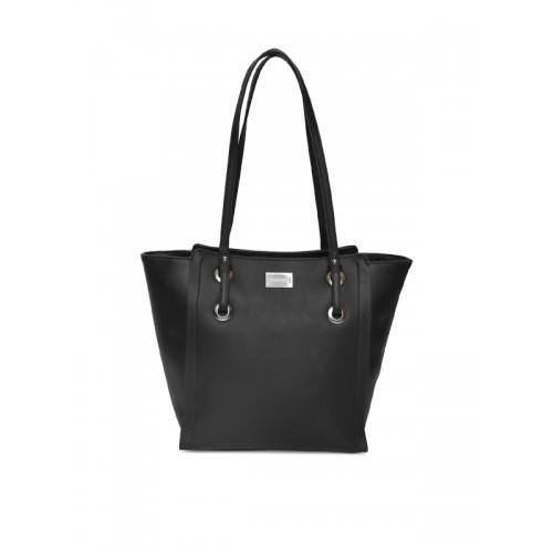 DressBerry Black Solid Shoulder Bag