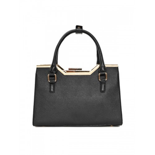 Dune London Black Solid Handheld Bag with Detachable Sling Strap