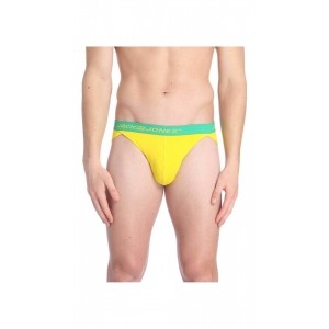 Jack & Jones Yellow Cotton And Elastane Brief