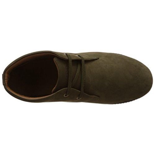 Woodland Olive Green Leather Sneakers