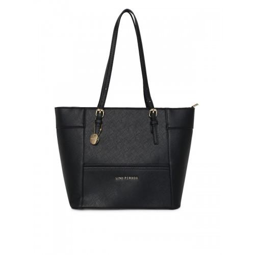 Lisa Haydon for Lino Perros Black Solid Shoulder Bag