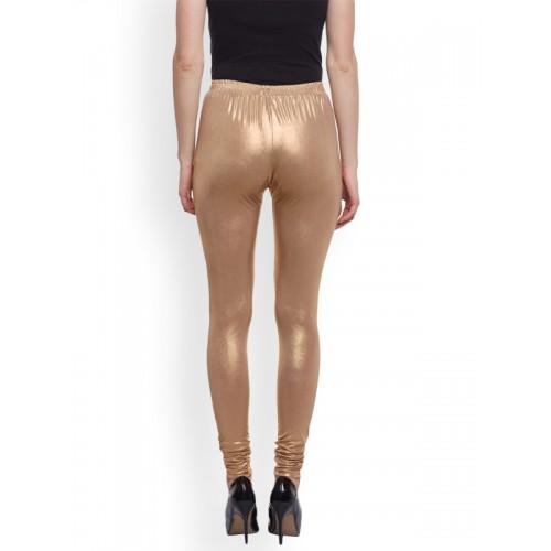 efc6e8821c89c Buy Castle Women Light Golden Shimmer Legging online | Looksgud.in