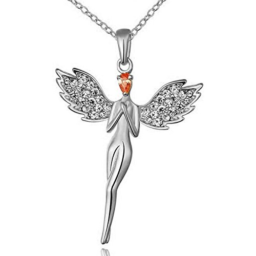YouBella Gracias Collection Lucky Angel Crystal Jewellery Pendant Set / Necklace Set for Girls and Women