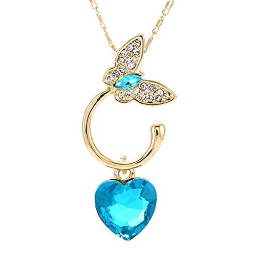 Valentine Gifts : YouBella Jewellery Valentine Collection Crystal Pendant Necklace Jewellery for Girls and Women