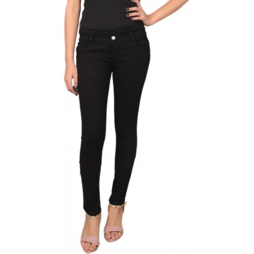 A-Okay Slim Black Solid Jeans