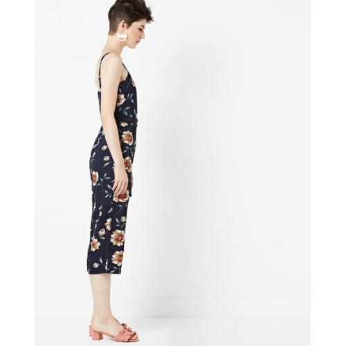 Buy Mela London Floral Print Cullotte Jumpsuit With Waist Tie Up