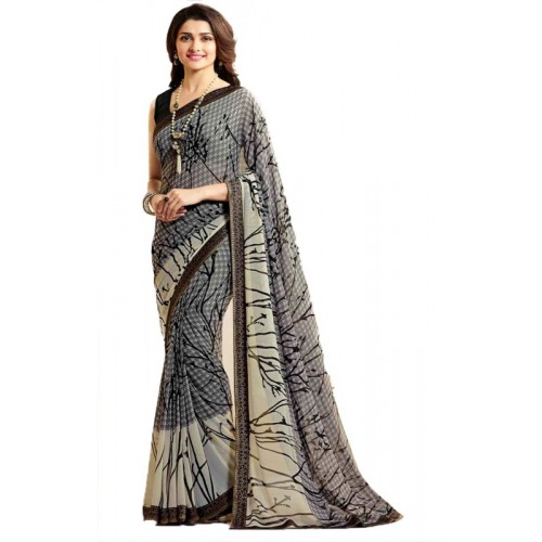 Bombey Velvat Fab Printed Daily Wear Georgette Saree(Multicolor)