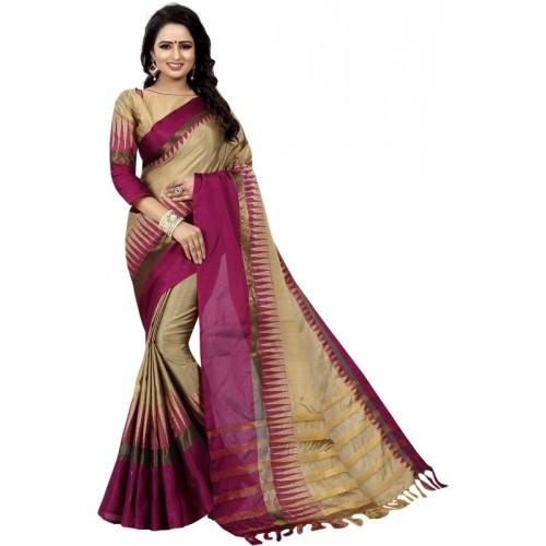 05e21dfca Buy HashTag Fashion Printed Banarasi Poly Silk