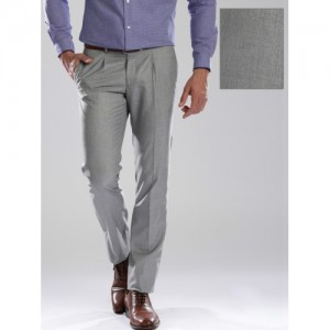 INVICTUS Grey Slim Fit Formal Trousers