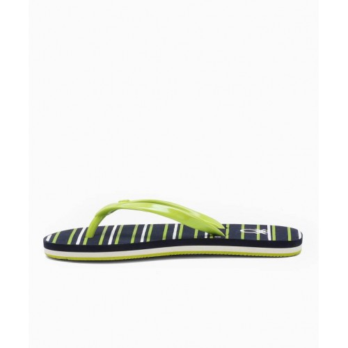 United Colors of Benetton Black & Navy Blue EVA Flip Flops