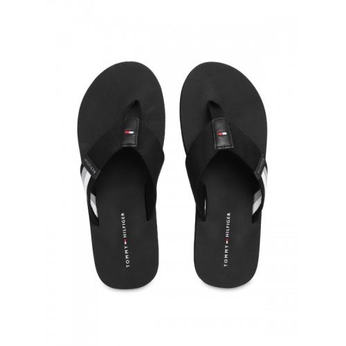 1c6841dcf Buy Tommy Hilfiger Men Black Solid Thong Flip-Flops online ...