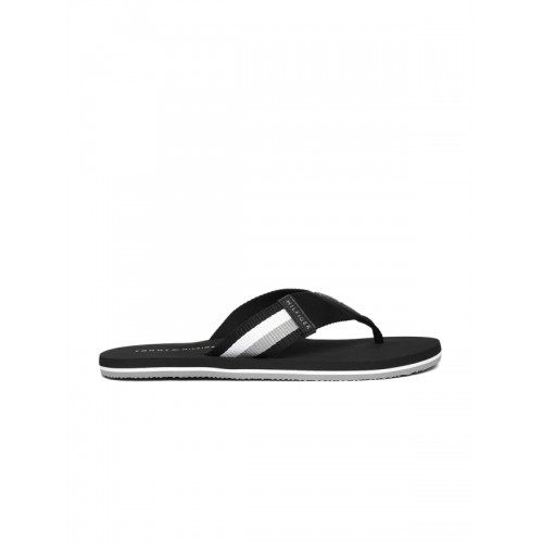 116742baf41b Buy Tommy Hilfiger Men Black Solid Thong Flip-Flops online