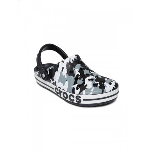 4f44f406f4159 Buy Crocs Unisex Blue   Black Camouflage Printed Bayaband Clogs ...
