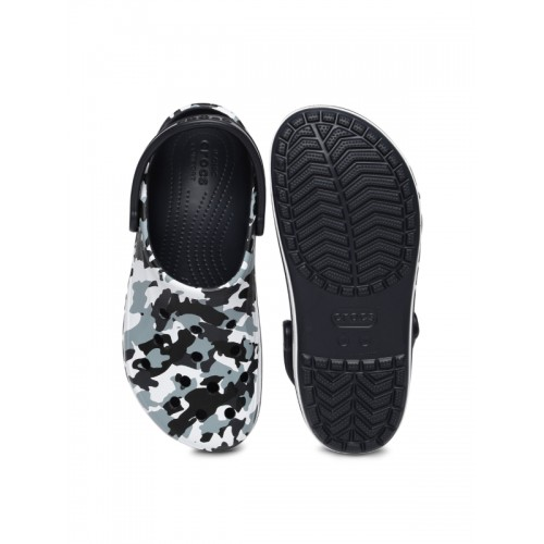 67e45b8d494d Buy Crocs Unisex Blue   Black Camouflage Printed Bayaband Clogs ...