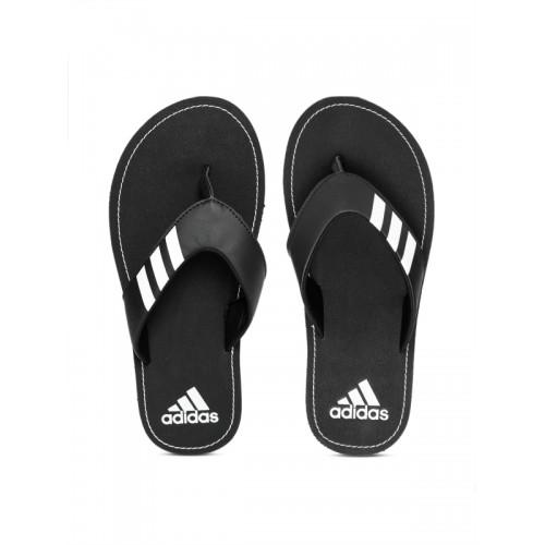 91e516c94 Buy Adidas Men Black Coset Printed Thong Flip-Flops online