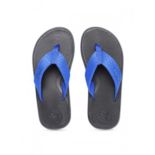 625a3ea40cb8 Buy Puma Men Black   Blue Solid Thong Flip-Flops online