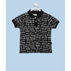 Pepe Jeans Black Printed Cotton T Shirt